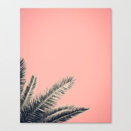 Retro Style Palm Tree Canvas Print