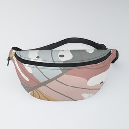 Colorful Monstera Leaf Fanny Pack