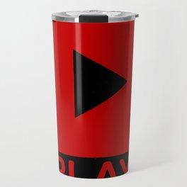 Play Button Travel Mug