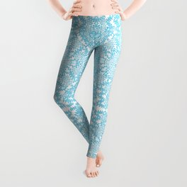 icy blue abstract Leggings