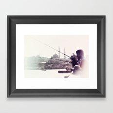 GALATA BRIDGE Framed Art Print