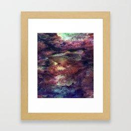 Space Algae Framed Art Print
