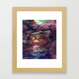 Space Algae Framed Art Print