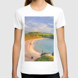 Porthor Bay at Sundown T-shirt