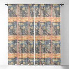 "Edvard Munch, "" The Scream "" Sheer Curtain"