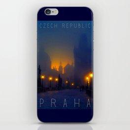 Prague, vintage poster iPhone Skin