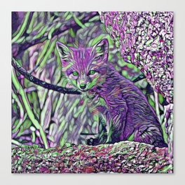 ColorMix Baby Fox Canvas Print