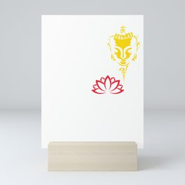 Find Your Own Light | Gautama Buddha And The Red Lotus Mini Art Print
