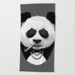 Panda in Black Beach Towel