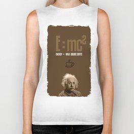 e=mc2, energy, milk, coffee Biker Tank