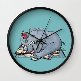 The Best Thing About Rainy Days Wall Clock
