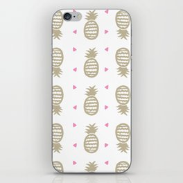 Golden pineapple pattern iPhone Skin