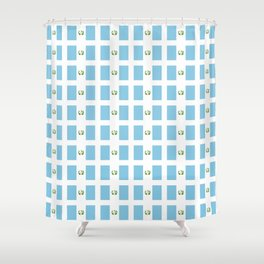 Flag of Guatemala 3-Guatemalan,Mixco,Villa Nueva,Petapa,tropical,central america,spanish,latine Shower Curtain