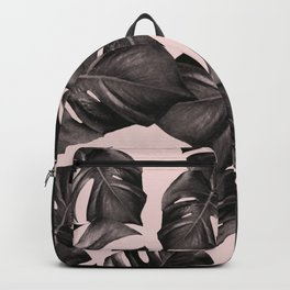 Monstera Leaves Pattern #5 #tropical #decor #art #society6 Backpack