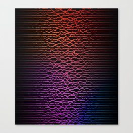Colorful sound waves, curved lines Canvas Print