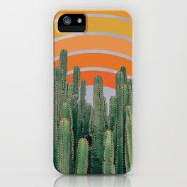 Cactus and Rainbow iPhone Case