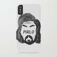 juventus iPhone & iPod Cases featuring Pirlo B&W by wearwolves