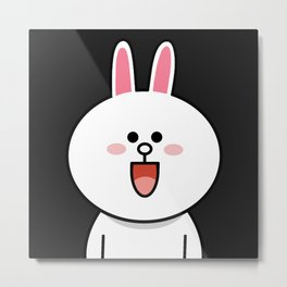 LINE Cony Rabbit Bunny Metal Print