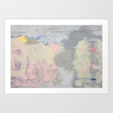 Pastel Graffiti Wall Art Print