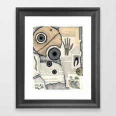 X Y Z Framed Art Print