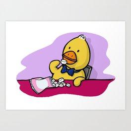 Is That More Food? Marshmallows Make Ducks Soft. Art Print
