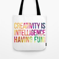 creativity Tote Bags featuring Creativity  by DesignByDerek