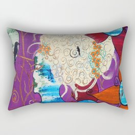 """JC Morgan """"Mardi Gras"""" Rectangular Pillow"""