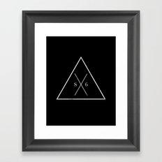 The Society Six (White Graphic) Framed Art Print