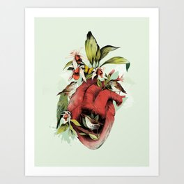 Heart Of Birds Art Print