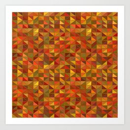 mosaic mosaique couleur Art Print