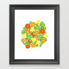 A Slice of Citrus Framed Art Print