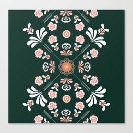 Scandi Vector Embroidery Canvas Print