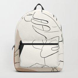 Minimal Abstract Art- Monstera 2 Backpack