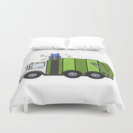 Recycle Truck Duvet Cover
