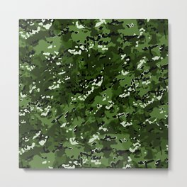 Leaf Green Popular Multi Camo Pattern Metal Print
