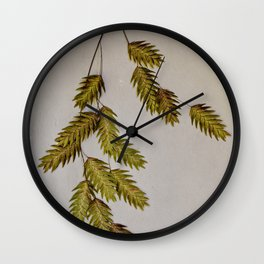 oat grass portrait Wall Clock