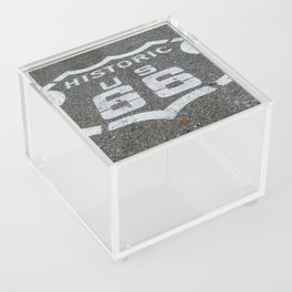 Route 66 sign on the road Acrylic Box