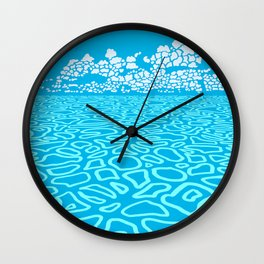 Tropical Ocean by Black Dwarf Designs Wall Clock
