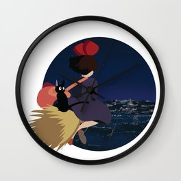 Witch at Night Wall Clock