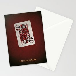 Lazarus Walks - Queen of Spades Stationery Cards
