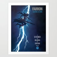 returns Art Prints featuring Lightning Returns by Six Eyed Monster