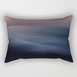 Seascape blue abstract Rectangular Pillow