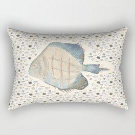 Big Fish - Small Fish - natural color palette Rectangular Pillow