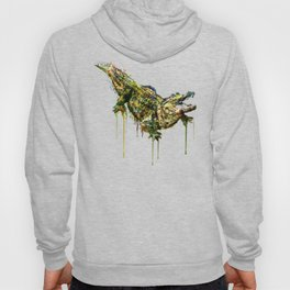 Alligator Watercolor Painting Hoody