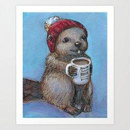 Canadian Beaver Art Print