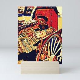 gold rushing Mini Art Print