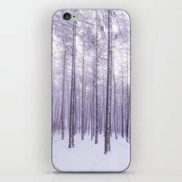 Snow in Trees iPhone Skin