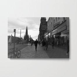 Princes Street Edinburgh Metal Print