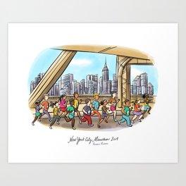 NYCM 2019: Runar's Runners Art Print