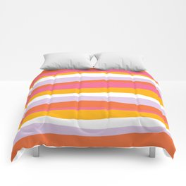 cali beach stripes Comforters